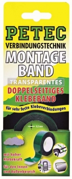 POWER MONTAGEBAND, TRANSPARENT,  2 M X 19 MM, SB-KARTE